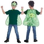 Set de Capa y Máscara PJ Mask Gekko - 4-8 Años