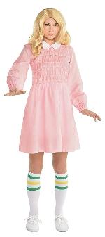 (Disponible en Enero) Disfraz Infantil Eleven Stranger Things (Vestido + Calcetines) Talla 8-10 Años
