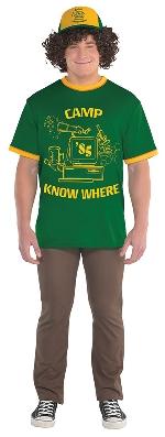 (Disponible en Enero) Disfraz Adulto Dustin Stranger Things (Gorra - Pelos + Camiseta) Talla M