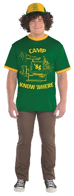 (Disponible en Enero) Disfraz Adulto Dustin Stranger Things (Gorra - Pelos + Camiseta) Talla XL