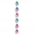 Columna Cascada Decorativa Multicolor Cumpleaños 21 - 2,1m