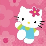 OUTLET - Servilletas 33x33 (16) Hello Kitty (OFERTA )