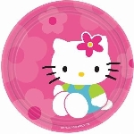 Platos 18cm (8) Hello Kitty (OFERTA)