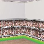 Escenario Temático Estadio de Fútbol 12cm