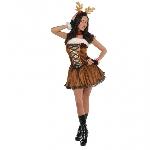 Señorita Vixen - Disfraz de reno navideño para mujer - Adulto 12-14