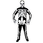 PRECIO OFERTA HALLOWEEN, DTO. NO ACUMULABLE. Esqueleto Disfraz de Halloween Talle único