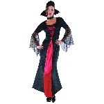 PRECIO OFERTA HALLOWEEN, DTO. NO ACUMULABLE. Condesa Vampira - Disfraz de Vampiro de Halloween Grande