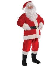 Traje de felpa de Papá Noel - Disfraz de Navidad para hombre - Adulto 36-38''
