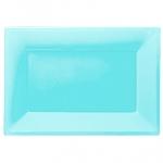 Fuente azul turquesa-23cm x 32 cm plástico