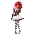 PRECIO OFERTA HALLOWEEN, DTO. NO ACUMULABLE. Harlequin Honey - Disfraz de Halloween de Payaso - 10-12 Años
