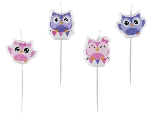 4 Vela mini figuras Happy Owl