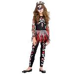 PRECIO OFERTA HALLOWEEN, DTO. NO ACUMULABLE. Esqueleto Aterrador - 10-12 Años Disfraz de Halloween Día de los Muertos