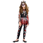 PRECIO OFERTA HALLOWEEN, DTO. NO ACUMULABLE. Esqueleto Aterrador - 14-16 Años Disfraz de Halloween Día de los Muertos