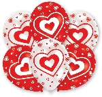 GLOBO LATEX  pk6 27.5cm  Hearts