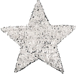 Piñata de Estrella Plateada - 45cm de largo