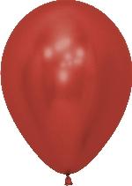 Globo Latex R12 Sempertex Reflex Cristal Rojo 30cm En Bolsa De 50 Unidades