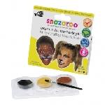 Kit de pintura para la cara de leopardo y león Snazaroo- 10 caras